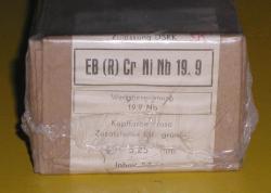 Schweißelektroden EB(R) CrNiNb 19.9  für Edelstahl