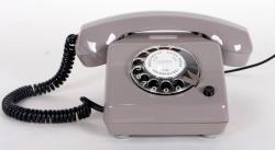 DDR Telefon grau Wählscheibentelefon